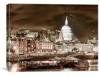 The Thames, Canvas Print