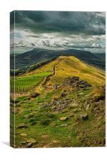 Lose Hill Peak District HDR, Canvas Print