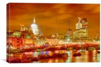 London Cityscape HDR, Canvas Print
