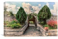 The Garden Gate, Canvas Print