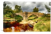 Skipping Stones Bridge Derbyshire, Canvas Print