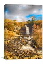 Waterfall Yorkshire, Canvas Print