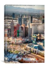 Las-Vegas hotels Ariel view, Canvas Print