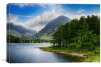 Clouds upon Buttermere, Canvas Print