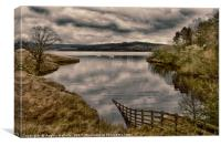 kielder by the lake                   , Canvas Print