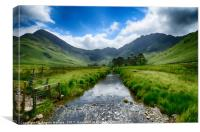 Buttermere Valley          , Canvas Print
