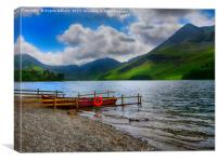 LAKESIDE AT BUTTERMERE        , Canvas Print