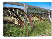 Rusty Wheels, Canvas Print