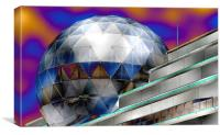 UNDER AN ABSTRACT DOME, Canvas Print