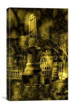 GRAVE MARKER IN VIRGINIA CITY, Canvas Print