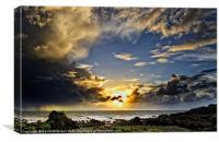 Sunset over Lundy Island, Canvas Print