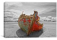 Old Fishing Boat., Canvas Print