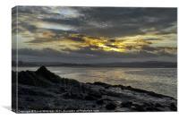 River Sunrise, Canvas Print