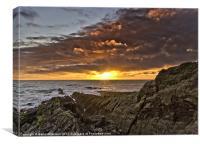 Bristol Channel sunset, Canvas Print