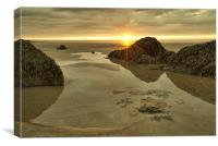 Putsborough Sands Sunset, Canvas Print