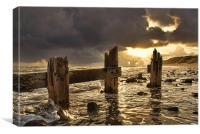 Old Groyne Sunset, Canvas Print