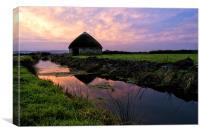 Braunton Marsh sunrise, Canvas Print