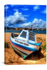 Portugees fishing boat, Canvas Print