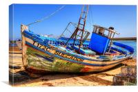 Old Portugees Fishing Boat, Canvas Print
