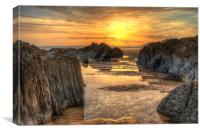 Coombesgate Beach, Canvas Print