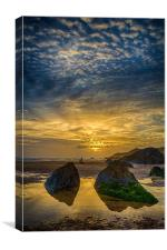 Combesgate Beach, Canvas Print