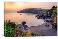 Sandy Cove, Lee Bay North Devon., Canvas Print