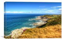 Rockham Bay and Bull Point Lighthouse, Canvas Print
