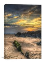 North Devon Beach, Canvas Print