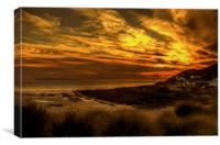 Croyde Bay twilight., Canvas Print