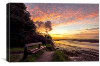 Early morning on the River Taw, Canvas Print