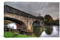 New Bridge River Taw, Canvas Print
