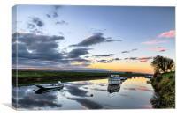 Velator sunrise, North Devon, Canvas Print