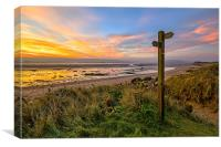 Sign Post, Broadsands, Crow Point., Canvas Print
