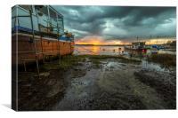 River Taw Sunrise, Canvas Print