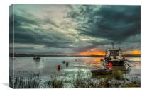 Houseboat on the River Taw, Canvas Print