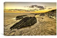 Sunset Saunton Sands, Canvas Print