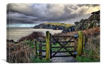 Sandy Cove, Lee Bay, North Devon, Canvas Print