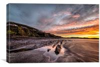 Winter sunrise, Saunton Sands, Canvas Print