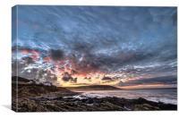 Croyde Bay sunrise, Canvas Print