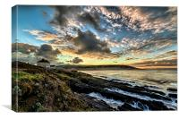 Just before sunrise at Croyde Bay, Canvas Print