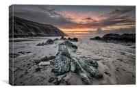 Putsborough Sands Sunset, Canvas Print