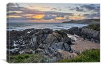 Barricane Beach, Woolacombe., Canvas Print