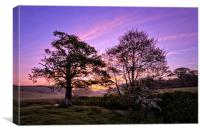 Knowl Water sunrise, Canvas Print