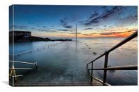 Ilfracombe Pier sunrise, Canvas Print