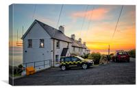 Coastguard houses, Canvas Print