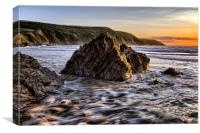 Putsborough Rock Sunset, Canvas Print