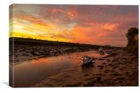 Braunton Pill Sunrise, Canvas Print