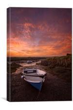 Velatror Quay sunrise, Canvas Print