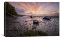 River Taw sunrise., Canvas Print