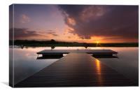 Velator Quay sunrise, Canvas Print